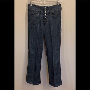 🆕 7 For All Mankind unique bootcut jeans Size 26